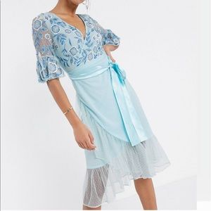 ASOS Frock and Frill embellished midi dress US 8